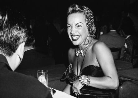 Murray Garrett, 'Carmen Miranda, Filled with Enthusiasm, as She Attends a Big Time Party at the Bel Aire Hotel', ca. 1955