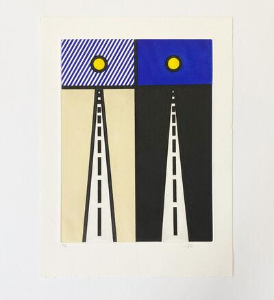 "Roy Lichtenstein, 'Illustration for ""Auto Poésie: en Cavale de Bloomington""', 1992"