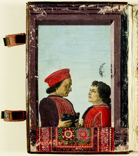 Attributed to Sandro Botticelli, 'Portrait of Montefeltro & Landino'