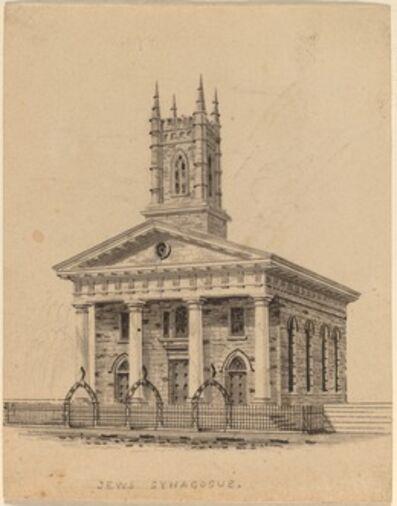 Alexander Jackson Davis, 'Jewish Synagogue, N.C.'