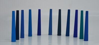 Mathias Goeritz, 'Once torres cónicas azules', 1963
