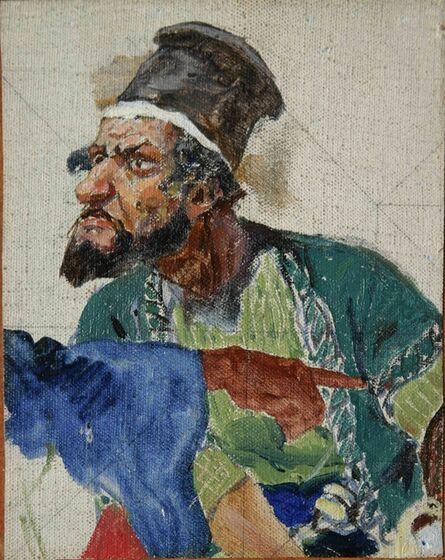 Vassily Dmitrievich Polenov, 'Head of Jew on High Hat', 1884