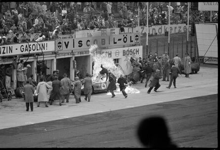 Jesse Alexander, 'Scarlatti Ferrari Fire, Nürburgring, Nürburg, Germany', 1960
