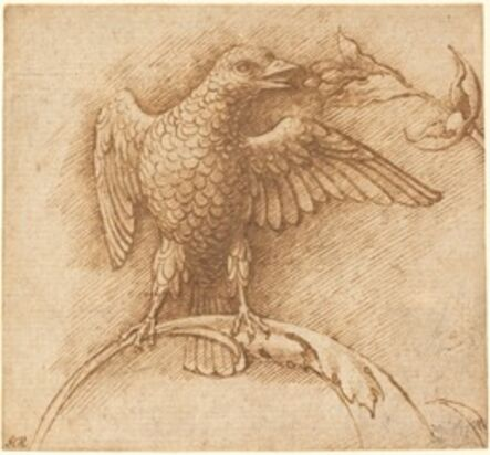 Andrea Mantegna, 'A Bird Perched on a Branch with Fruit', 1460s