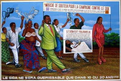 Chéri Samba, 'Le Sida ne sera guérissable que dans 10 ou 20 ans (AIDS will Be Curable only in 10 or 20 years)', 1997