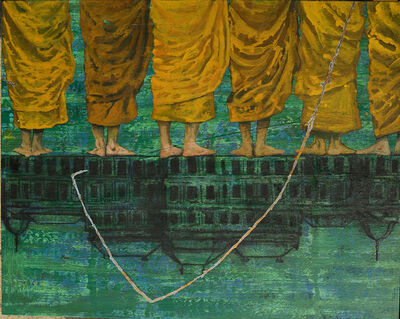 G.R. Iranna, 'Yellow Robes', 2013