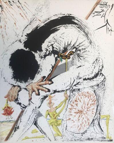 Salvador Dalí, 'Don Quixote overwhelmed', 1957