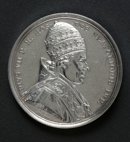Jean-Pierre Droz, 'Médaille commémorant la venue de Pie VII pour le couronnement de Napoléon à Notre-Dame de Paris en 1804 (Medal commemorating the visit of Pope Pius VII for Napoleon's coronation at Notre-Dame, Paris in 1804)', 1804