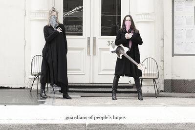 Renate Aller, 'side walk – Guardians of People's Hopes', 2020