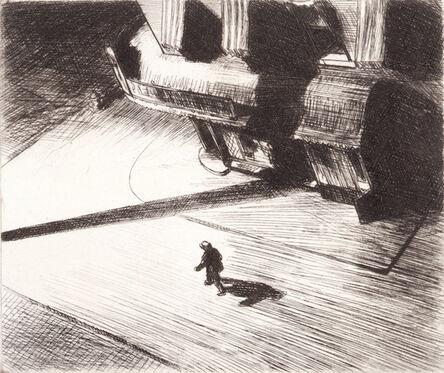 Edward Hopper, 'Night Shadow', 1921