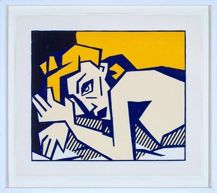 Roy Lichtenstein, 'Reclining Nude, from Expressionist Woodcut Series', 1980
