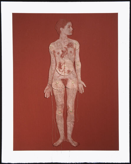 Lesley Dill, 'Girl Articulated', 2005