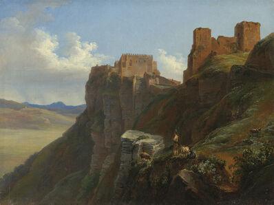 Louise-Joséphine Sarazin de Belmont, 'View of the Castello di San Giuliano, near Trapani, Sicily', ca. 1824/1826