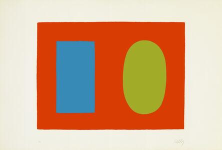 Ellsworth Kelly, 'Blue and Green over Orange', 1964-1965