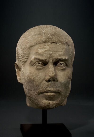 Unknown Roman, 'Ancient Late Roman Marble Portrait of a Man',  Circa 240-270 A.D.