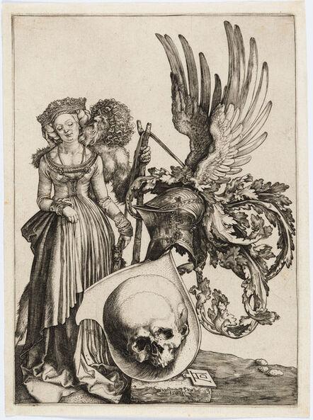 Albrecht Dürer, 'Coat of Arms with a Skull', 1503