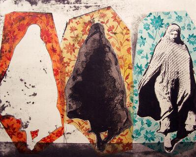 Nahid Hagigat, 'Three Women in Floral Pattern', 2015
