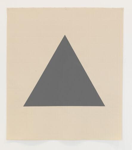 Alan Charlton, 'Hanging Canvas Isometric Triangle', 2017