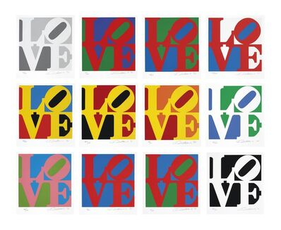 Robert Indiana, 'Book of Love: The complete portfolio of 12 Love prints and 12 poems within its original portfolio', 1997