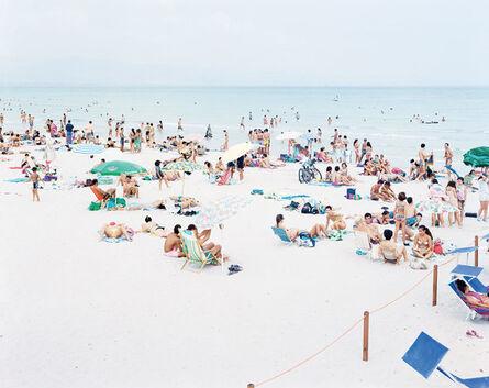 "Massimo Vitali, '03 Cagliari Blue Rectangle from ""A Portfolio of Landscapes With Figures""', 2006"