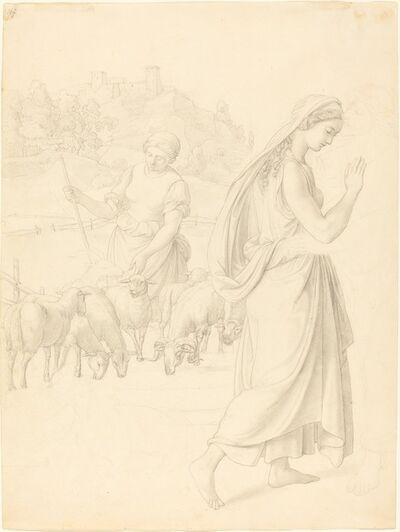 Josef von Führich, 'The Meeting of Jacob and Rachel', ca. 1829