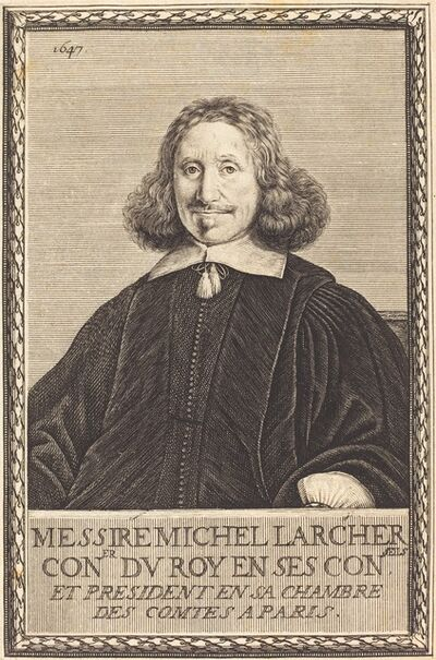 Abraham Bosse, 'Michel Larcher', 1647