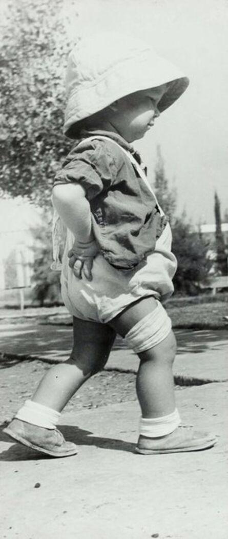 Peter Merom, 'Large Mounted Vintage Silver Gelatin Israeli Kibbutz Photograph', 20th Century