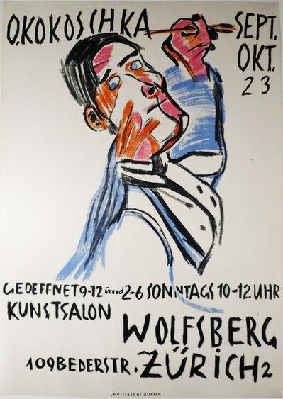 Oskar Kokoschka, 'SELBSTBILNIS VON ZWEI SEITEN ALS MALER (SALON WOLFSBERG)', 1923