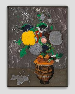 Matthew Day Jackson, 'Flowers in a sculpted vase ', ca. 2019