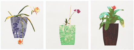 Jonas Wood, 'Three Landscape Pots (set of 3)', 2019