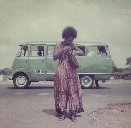 James Barnor, 'Model posing for the AGIP F1 calendar, Accra, 1974-1975', 2018