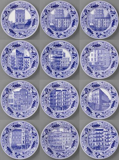 Paul Scott, 'Cumbrian Blue(s), New American Scenery, Fleurs.de.sel's New York, (set of twelve plates)', 2019