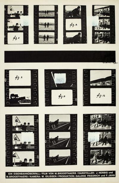 Niele Toroni, 'Empreintes de pinceau n°50 répétées à intervalles réguliers de 30 cm, Hommage à Marcel', 1986
