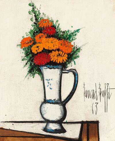 Bernard Buffet, 'Bouquet de zinnias dans un broc', 1963