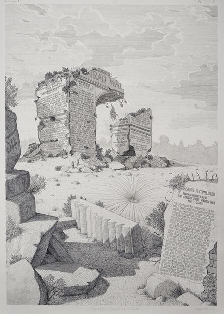 Sandow Birk, 'Proposal for a Triumphal Arch and Garden', 2015