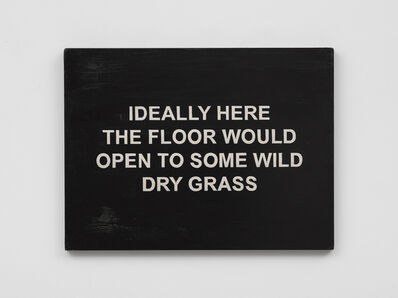 Laure Prouvost, 'IDEALLY HERE THE FLOOR WOULD OPEN TO SOME WILD DRY GRASS', 2018