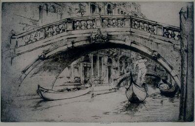 Donald Shaw MacLaughlan, 'Under Formosa's Bridge, Venice', 1922