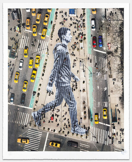 JR, 'MIGRANTS, WALKING NEW YORK CITY', 2015