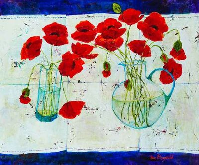 Sue Fitzgerald, 'Poppies', 2018