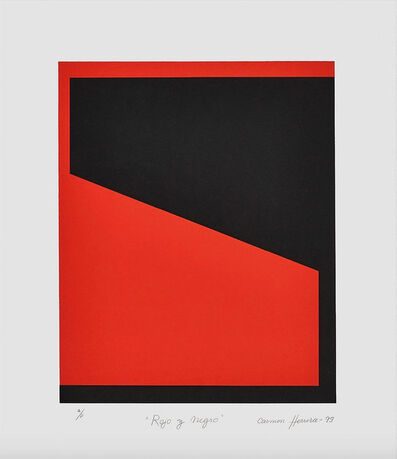 Carmen Herrera, 'Rojo y Negro', 1995