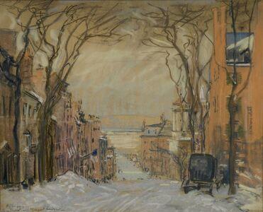 Arthur Clifton Goodwin, 'Mount Vernon Street To Charles - Winter', ca. 1915