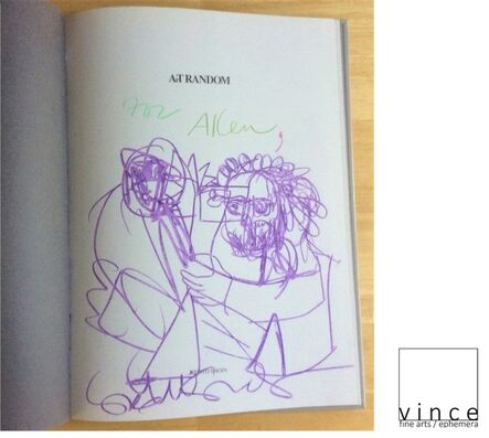 """George Condo, '""""For Allen (Ginsberg)"""", 1997, Inscribed Drawing Signed, Art Random, First Edition, UNIQUE', 1997"""