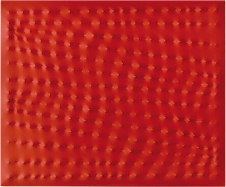 Enrico Castellani, 'Superficie Rossa', 1996