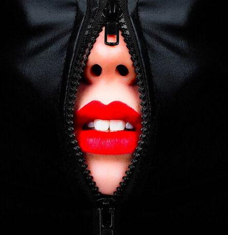 Tyler Shields, 'Zipper Lips', 2021