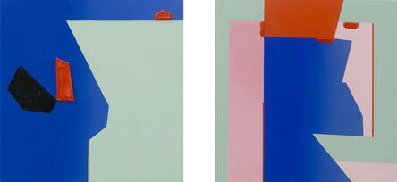 Ana Elena Garuz, 'Untitled (Pink dyptich)', 2020