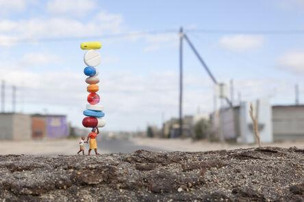 Slinkachu, 'Balancing Act', 2011