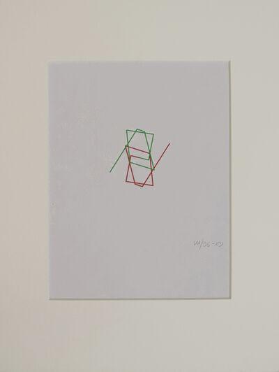 Vera Molnar, ' Ligne brisée évoluant en spirale', 1996-2013