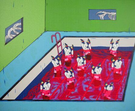Chang Teng-yuan 張騰遠, 'Simulator - Heimlich Method in the Water', 2015