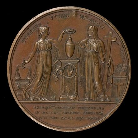 Mathias-Nicholas-Marie Vivier, 'Justice and Faith [reverse]', 1823