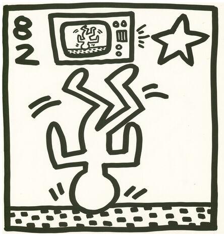 Keith Haring, 'Keith Haring lithograph 1982 (Keith Haring Tony Shafrazi gallery)', 1982
